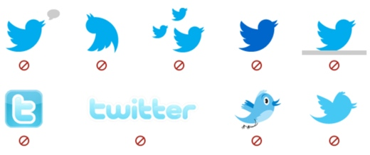 Twitter bird guidelines There's no 'F' in Foursquare, tweets have a capital 'T': The rules that protect tech company brands