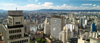 View of Sao Paulo skyline via Pond5
