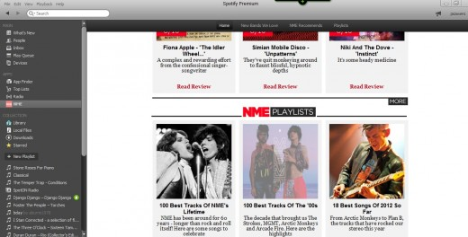 a 520x264 After 60 years in business NME rolls out a new Spotify app, offering music recommendation and playlists