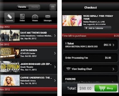 b2 Live Nation launches its live music ticket app for Android devices