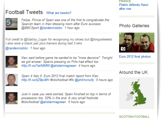 bbc football tweets1 520x381 Euro 2012 football final sets new Twitter sports record with 15,358 tweets per second