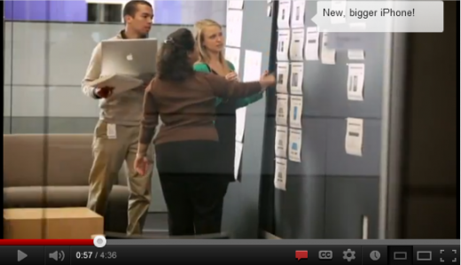 bigger iphone 520x299 Can you see any secret products in this Apple corporate recruitment video?