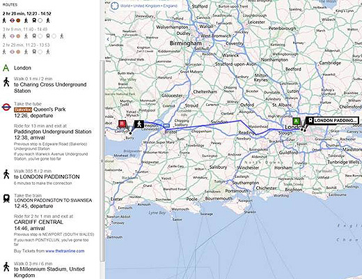bing5202 Bing adds new train routes to its map tool, opening up travel planning options in the UK