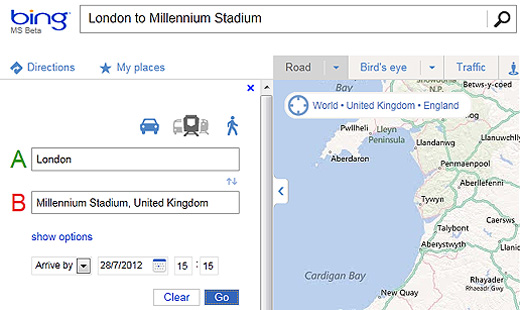 bing5202a Bing adds new train routes to its map tool, opening up travel planning options in the UK