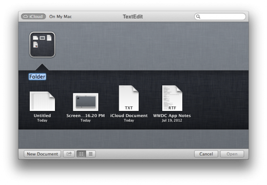 iCloud TextEdit Random Files 520x360 TNW Review: OS X 10.8 Mountain Lion