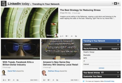 linkedintoday21 520x355 LinkedIn Today gets Facebook esque commenting, liking and trending features