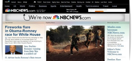 nbcnews banner 520x241 Comcast buys Microsofts MSNBC.com stake and relaunches the site as NBCNews.com