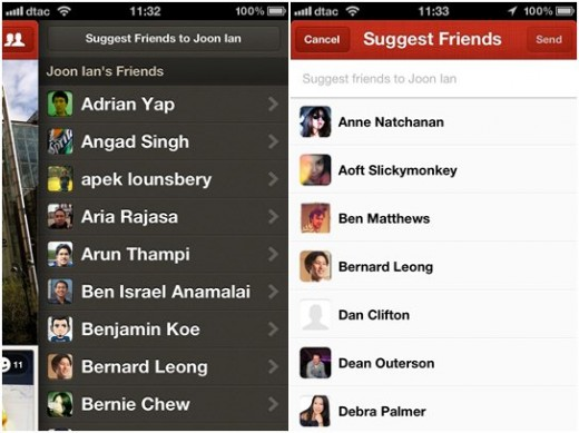 path friends 520x389 Path 2.5 brings book/movie sharing, enhanced videos and photos and a Facebook like nudge