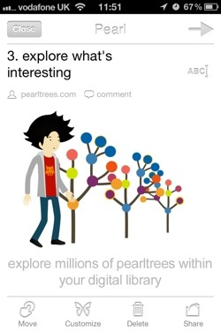 pearltrees1 Content curation service Pearltrees comes to the iPhone, expanding beyond websites to let you share photos and text too