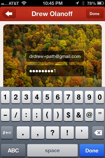 photo 33 Huge: New Path users can import all their Facebook statuses, Instagram photos and Foursquare check ins