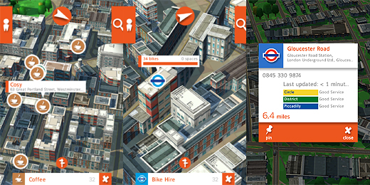 recce520b Recce app turns London into a charming toy town to show whats around you
