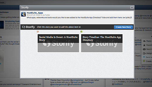 sfyhoot520 HootSuite plugs Evernote, ZenDesk and Storify into its social App Directory