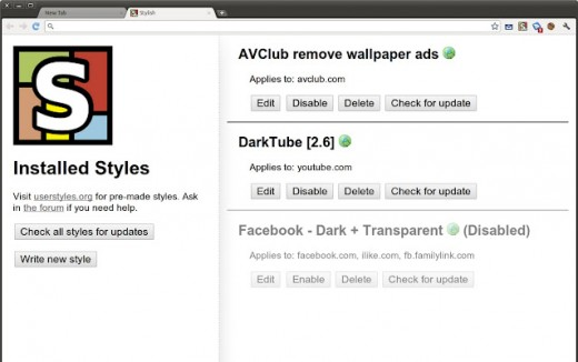 stylish 520x326 10 Essential Google Chrome Extensions