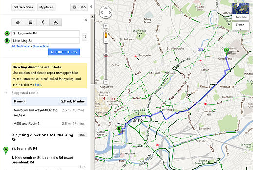 susmap520 Google teams up with Sustrans to provide safer cycling routes for Google Maps users in the UK