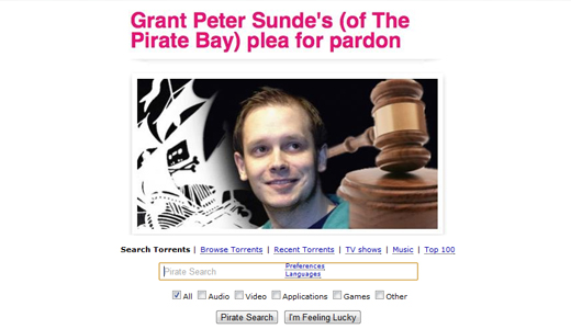 tpb520 Clemency petition for The Pirate Bay Co Founder Peter Sunde passes 20k signatures