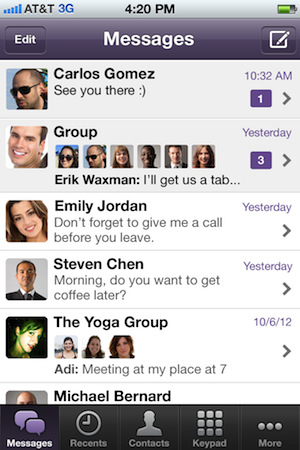 viberr2 Now at 90 million users, free calling app Viber adds group messaging feature