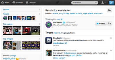 wimbledon people follow New Twitter search experience revealed: includes autocomplete, Spelling corrections, related suggestions and more