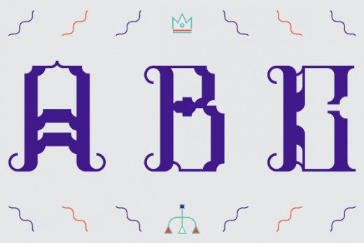 162e9c8b364f512de481d1ef33ee2fb2 520x347 Design Inspiration: 21 Gorgeous experimental typefaces for your inner designer (August)