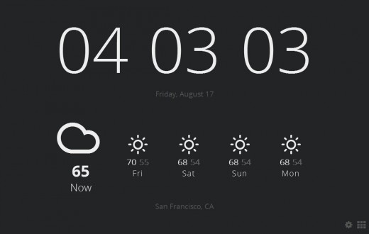 2012 08 17 16h03 04 520x330 Use Chrome? Meet Currently, an extension that turns your new tabs into weather displaying clocks