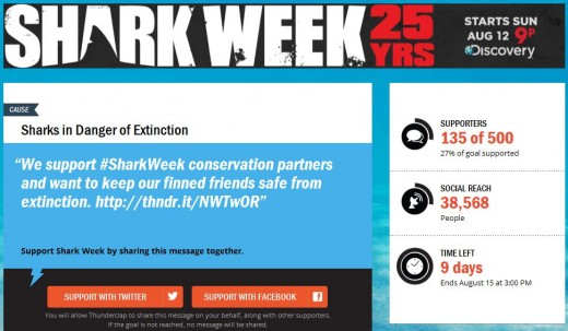Capture 520x303 The Discovery Channel partners with Thunderclap for social conservation efforts during Shark Week 2012
