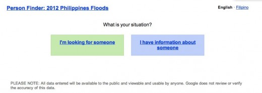 Google Person Finder  2012 Philippines Floods 520x186 Google re launches its People Finder tool to assist those dealing with the Philippines floods