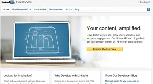 Home LinkedIn Developer Network 520x286 LinkedIn revamps its Developer offering, redesigns third party sign in flow and more