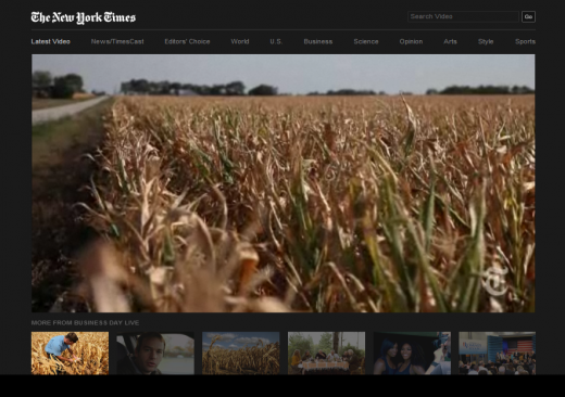 NYTVideo2 520x366 NYTimes.com gets a revamped video player, bigger and optimized for multiple Web and mobile devices