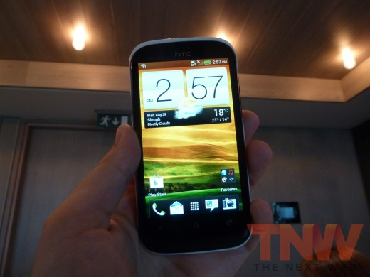 P1020386wtmkwtmk 520x390 HTC introduces the Desire X, its new 4 inch, 1GHz dual core, mass market Android smartphone