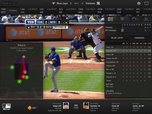 PadSyncing 520x390 MLB At Bat for iOS brings live overlay of Gameday data onto TV broadcasts and more