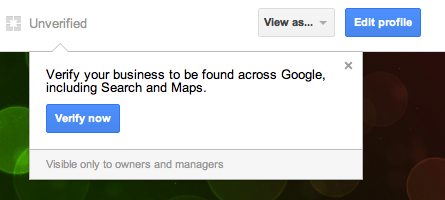 Screen Shot 2012 08 03 at 9.32.34 AM Business owners can now verify their own Google+ pages