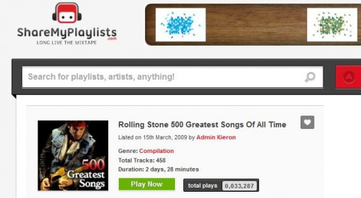 Screenshot 11 520x286 ShareMyPlaylists announces 100,000 Spotify playlists shared, an average of 170 tracks per compilation