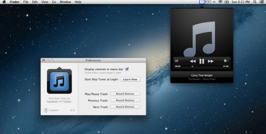 Skip Tunes 1 520x262 Skip Tunes for Mac gets an update, now includes audio scrubbing and Retina support