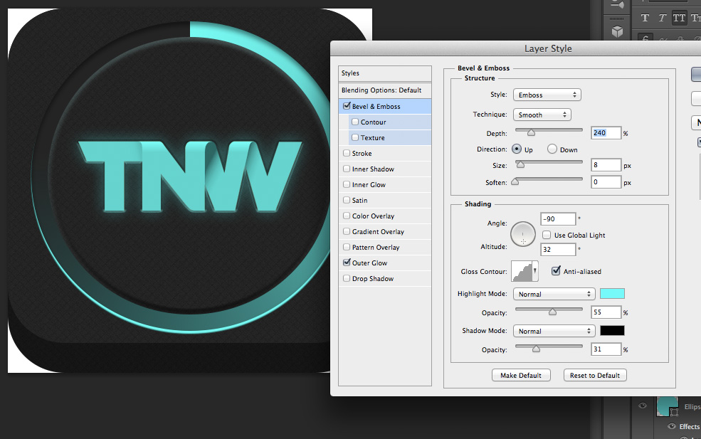 TNWTron SC15 How to create an awesome Tron inspired app icon