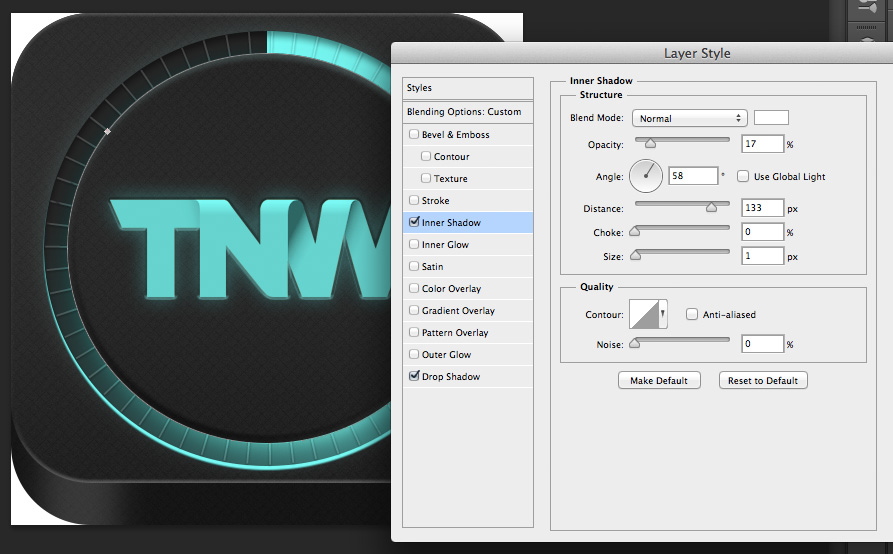 TNWTron SC25 How to create an awesome Tron inspired app icon