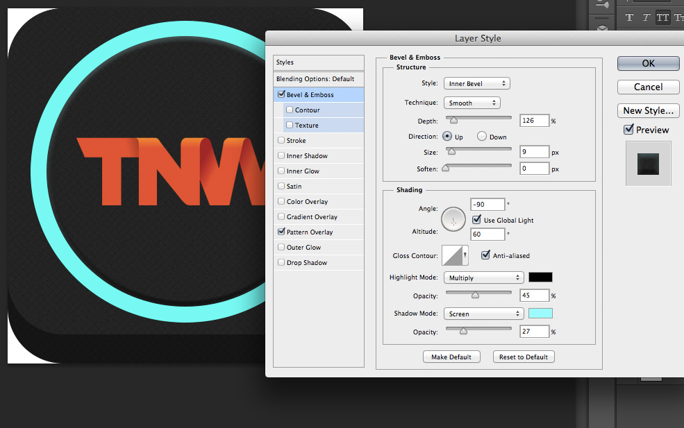 TNWTron SC9 How to create an awesome Tron inspired app icon