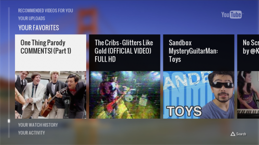 YTPS3 520x292 Google rolls out native YouTube app for PlayStation 3, US only for now