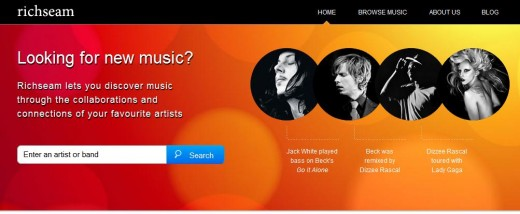 a10 520x214 TNW Pick of the Day: Richseam helps you discover collaborations between bands and musicians