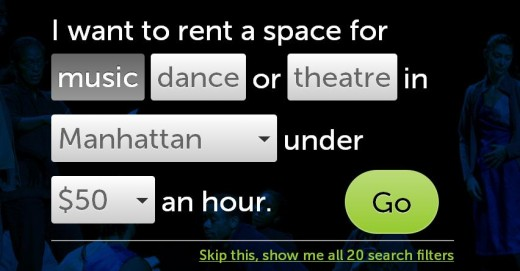 a22 520x271 This Web app is an OpenTable for NYC artists in search of rehearsal space