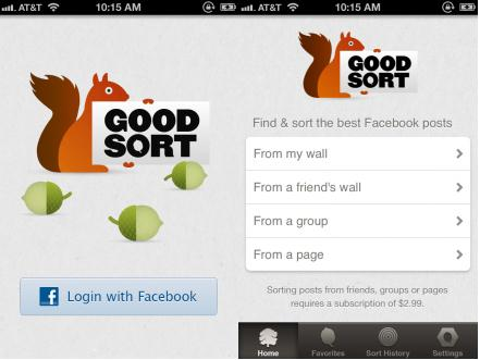 a26 Good Sort surfaces the most popular messages on your Facebook Wall since you joined