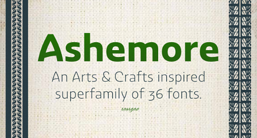 ashemore 25 Brand new typefaces released last month that you need to know about (August)