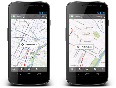 blogpost1 Google says Maps for Android now allows choice of specific public transit mode, 1M stop schedules mapped