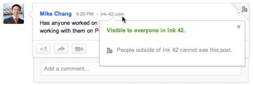 controls05 520x175 Google+ in the workplace: Google previews enterprise Hangouts for Calendar and restricted posts
