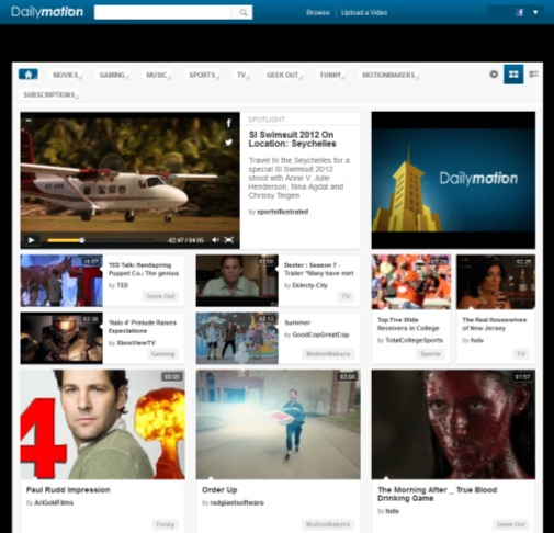 dailymotion new home Dailymotion now gives users a choice for their homepage layout, hoping to increase engagement