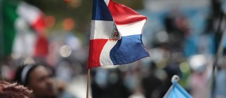 dominican flag by paul stein