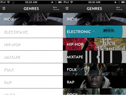 e1 TNW Pick of the Day: Shuffler.fm takes its Flipboard for music discovery app to the iPhone