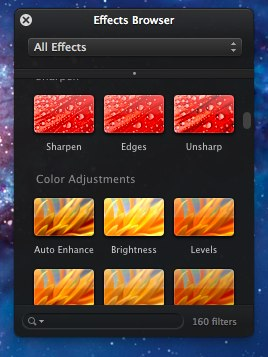 effectsbrowserpixelmatr2 Pixelmator 2.1 updated for Retina, adds iCloud support and new effects