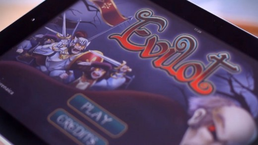evilot tablet with logo 520x292 First Chilean game on Kickstarter aims for OUYA
