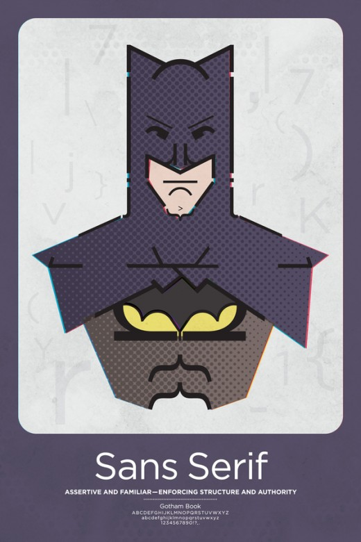 Typography meets superheros in these awesome posters