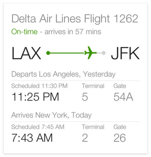 flight status quick answer Google launches more visual mobile search results for flights, conversions, definitions and more