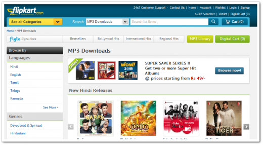 flyte 520x286 Digital music takes off for Indias Flipkart, as Flyte soars past 600,000 downloads in 6 months